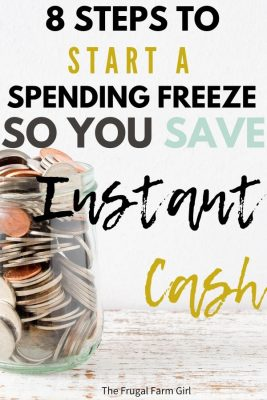 spending freeze to save money