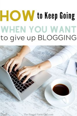 give up blogging tips