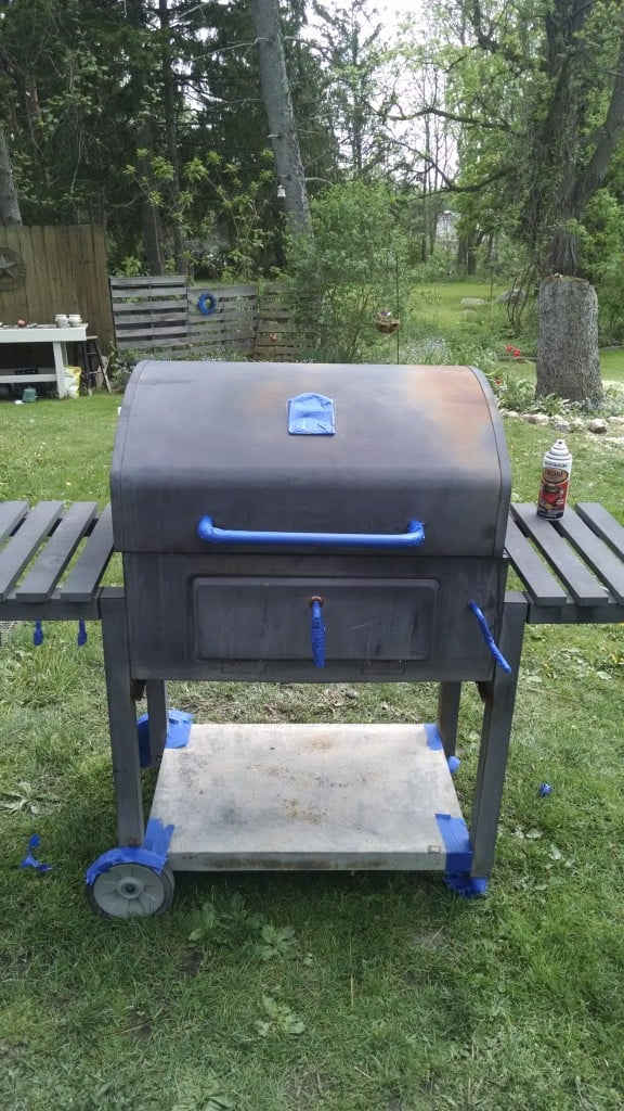 How to DIY Spray Paint an Old Grill for $10