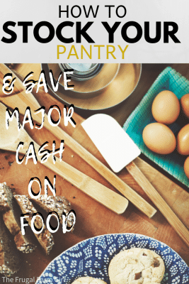 how to stock your pantry for food to eat