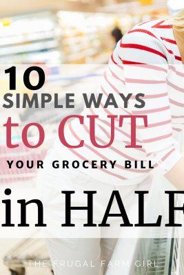 cut grocery bill in half