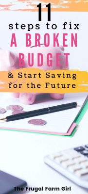 failing at your budget tips