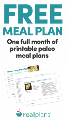 Free Full Month of Paleo Meal Plan Printables