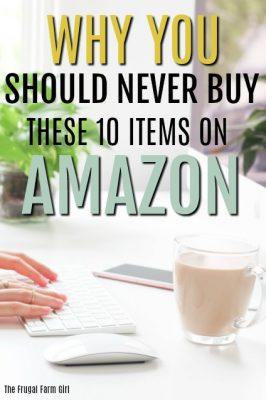 10 Items You Should Not Buy On Amazon