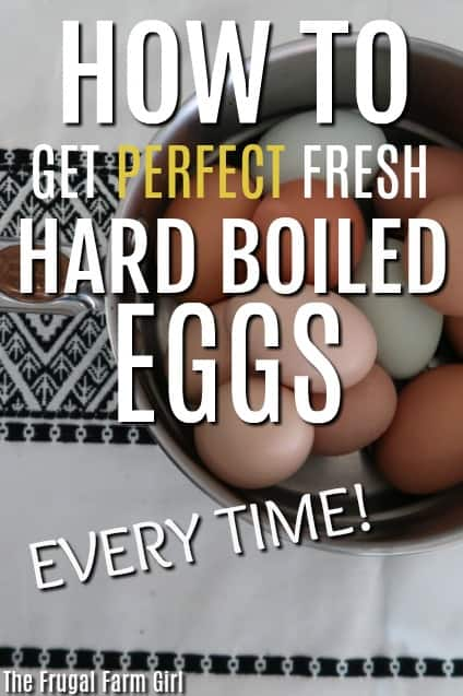 How to Get Perfect Fresh Hard Boiled Eggs