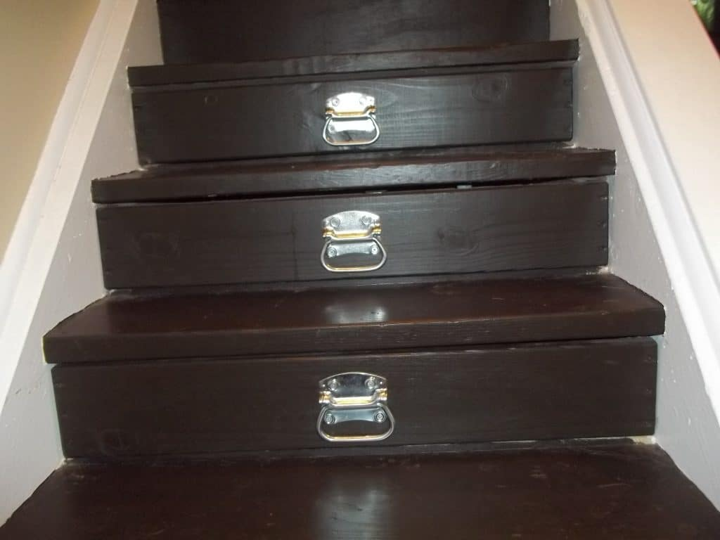 How to Turn Your Stairs Into Storage for Cheap