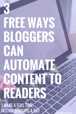 3 Free Ways For Bloggers To Automate Content To Readers