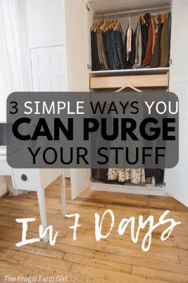 purge your stuff