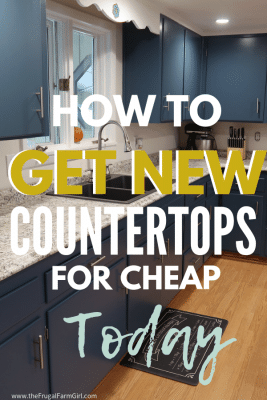 how to get new countertops in kitchen for cheap