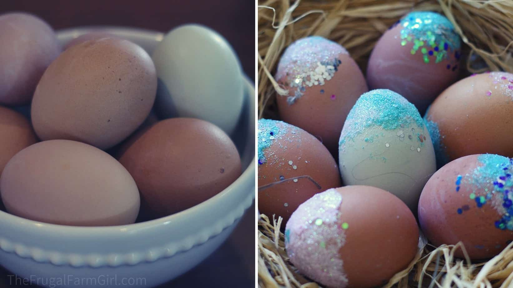 how to decorate and color brown eggs for easter