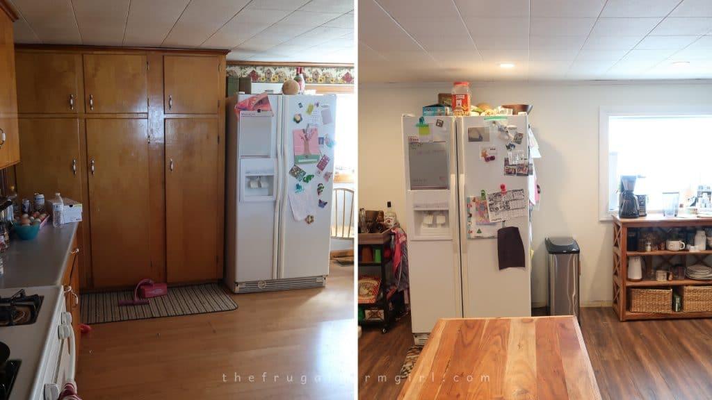 DIY Farmhouse kitchen makeover
