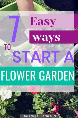start a garden for cheap