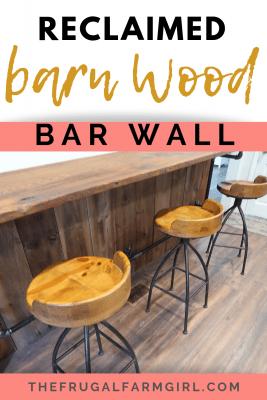 bar wood wall reclaimed wood