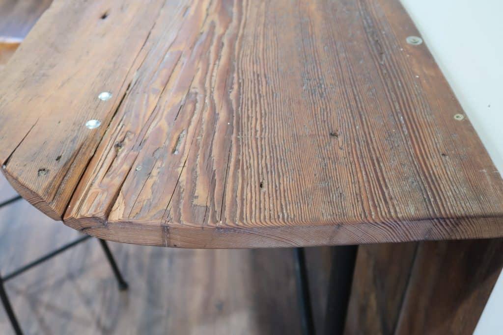 reclaimed barnwood bar wall