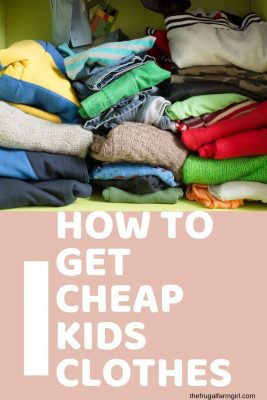 how to get cheap kids clothes