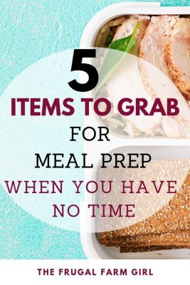 items to save time for meal prep
