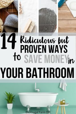 cut back expense in the bathroom
