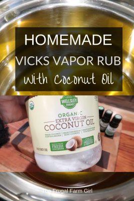 homemade vicks vapor rub with coconut oil