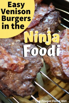 venison burgers in ninja foodi