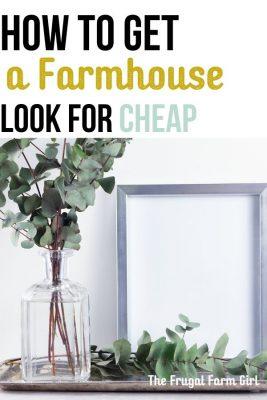 cheap decorating ideas for a farmhouse