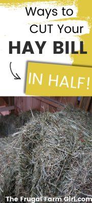cut hay bill in half
